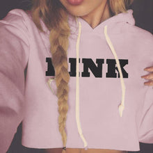 Load image into Gallery viewer, Women's Oversized Hoodies Sweatshirt PINK Cropped Letter Loose Pullover
