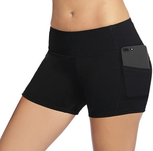 Women's Sports Shorts Elastic Waist Quick Dry Gym Shorts
