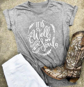 It Is Well With My Soul Short Sleeve Faith Women's T-Shirt