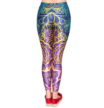 Load image into Gallery viewer, Women's Colorful Tribal Flower Print Leggings