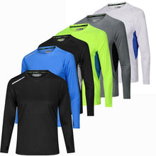 Load image into Gallery viewer, Men's Long Sleeve Sport Shirt Breathable Running Basketball Soccer Training Fitness Shirt