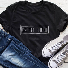Load image into Gallery viewer, Be The Light T-Shirt Women's Faith Vintage Tees