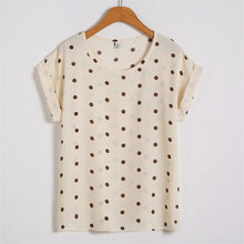 Load image into Gallery viewer, Women's Printed Casual Blouse Short Sleeve Tops