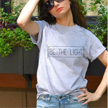 Load image into Gallery viewer, Be The Light Women's Faith Vintage Tees