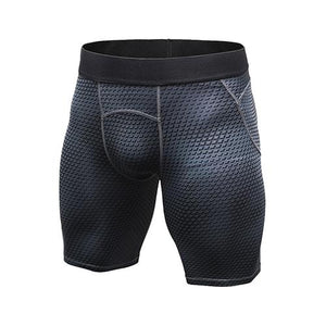 Men's Sport Tight Running Biking Elastic Waist Gym Shorts