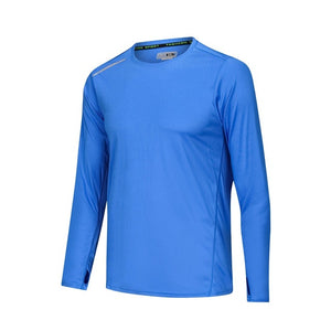 Men's Long Sleeve Sport Shirt Breathable Running Basketball Soccer Training Fitness Shirt