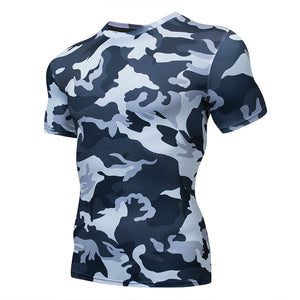 Men's Camouflage Compression Sport T-Shirt Gym Fitness Sportswear