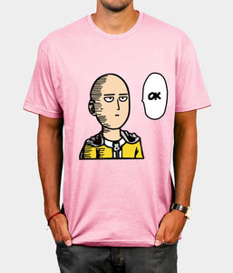 Men's Anime One Punch Man Printed Casual T-Shirt