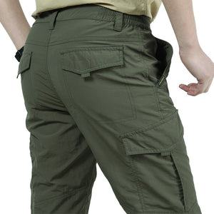 Men's Breathable Lightweight Waterproof Army Style Cargo Pants
