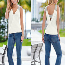 Load image into Gallery viewer, Women's Sleeveless V-Neck Fashion Tank Tops Casual Blouse