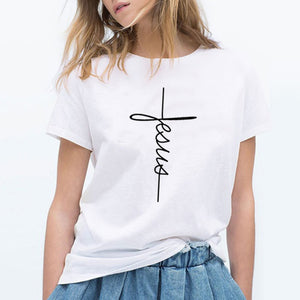 Faith Printed Women's T-Shirt Cotton Jesus Faith Tees