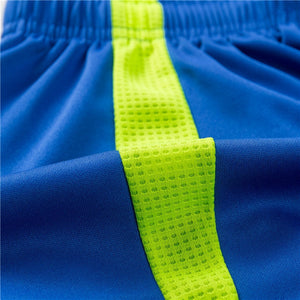 Men's Sport Striped Shorts Quick Dry Crossfit Soccer Tennis Shorts