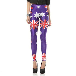 Women's Union Jack Flag Digital Printed Leggings
