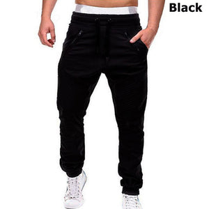 Men's Casual Drawstring Joggers Full Length Mid Waist Streetwear