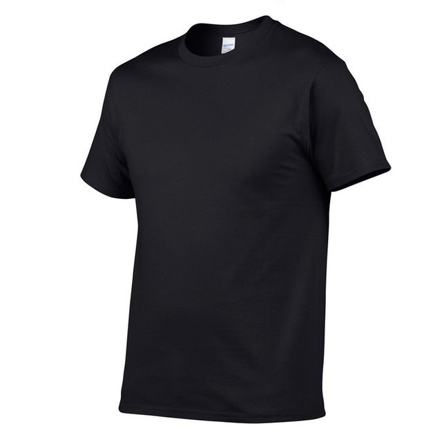Men's Solid Color Casual T-Shirt Simple Short Sleeve Tee