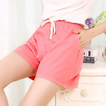 Load image into Gallery viewer, Women's Casual Wide Leg Loose Drawstring Shorts