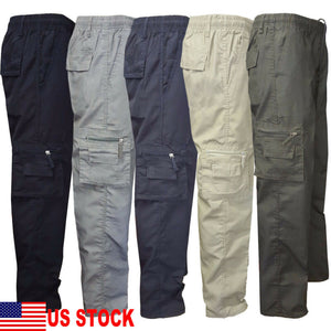 Men's Tactical Hiking Cargo Pants Skinny Trousers