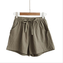 Load image into Gallery viewer, Women's Shorts High Waist Cotton Linen Loose Shorts