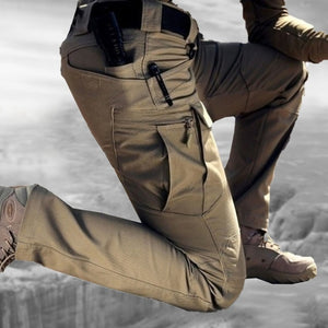 Men's Cargo Pants Outdoor Hiking Tactical Camouflage Military Multi-Pocket Trousers S-6XL