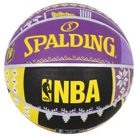 "Spalding NBA LA Lakers Basketball Official Game Ball Size 7 / 29.5"" 83-640Z"