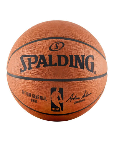 "Spalding NBA Official Game Ball genuine Leather Size 7 / 29.5"" 74-569Z"