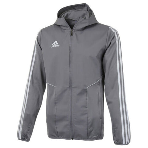 adidas Tiro 19 Warm Full Zip Hoodie Long Sleeve Stripes Long Sleeve Grey DW4805