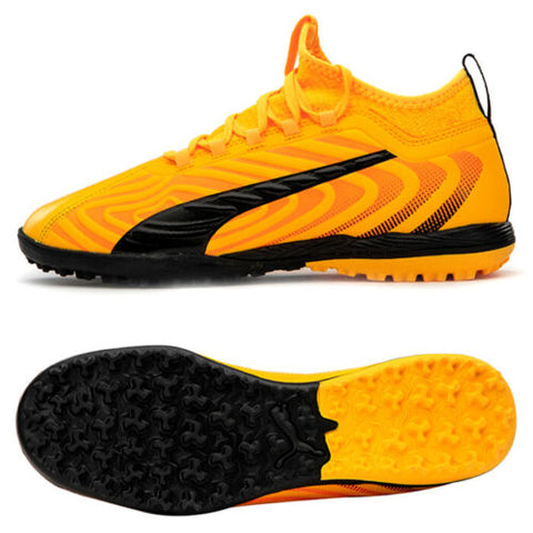 Puma ONE 20.3 TT Turf Football Shoes Soccer Cleats Boots Yellow 10582801