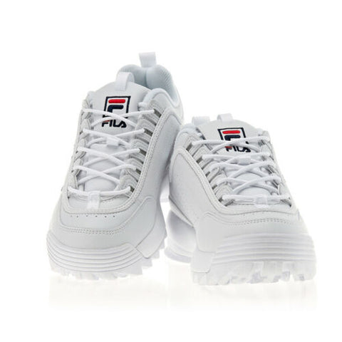 FILA Disruptor 2 Unisex Running Shoes Sports Athletic Sneakers White FS1HTA1071X