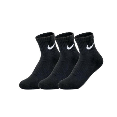 Nike Unisex Everyday Cotton Cushioned Ankle Socks 3-Pair Black SX7667-010