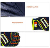 Franklin Sports MLB Powerstrap Baseball Batting Glove Navy/Volt/Orange 20463