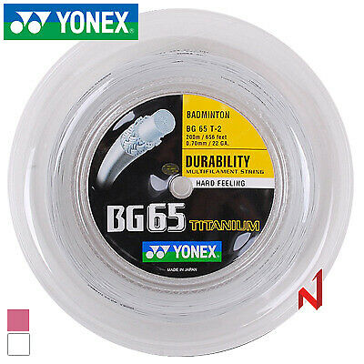 Yonex BG-65 Titanium 200m Reel Badminton String 0.70mm / 22 gauge