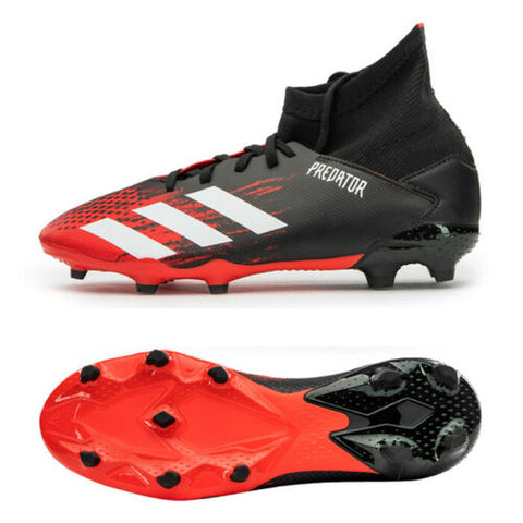 Adidas Jr. Predator 20.3 FG Football Shoes Youth Soccer Cleats Black/Red EF1930