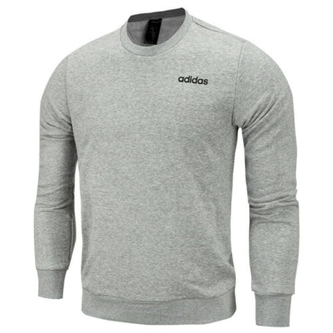 adidas Essential Plain Crew FT Long Sleeves Sweatshirt Grey DQ3087