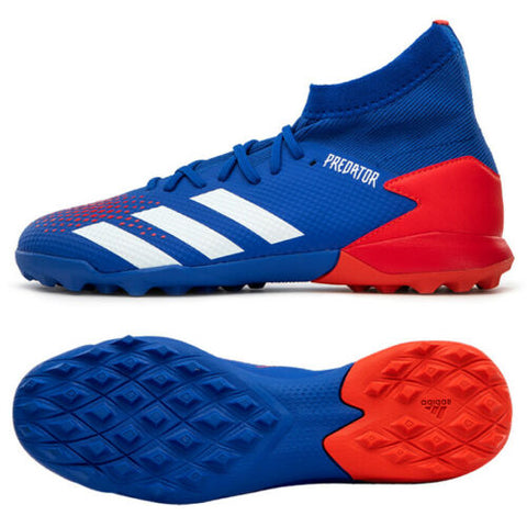 Adidas Predator 20.3 TF Turf Football Shoes Soccer Cleats Blue/Red EG0963