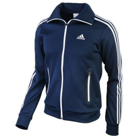 Adidas A1 3-Stripes Knit Track Top Jacket Sportswear Running Gym Navy S15955