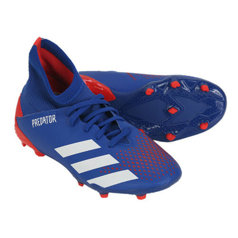 Adidas Jr. Predator 20.3 FG Football Shoes Youth Soccer Cleats Blue/Red EG0953