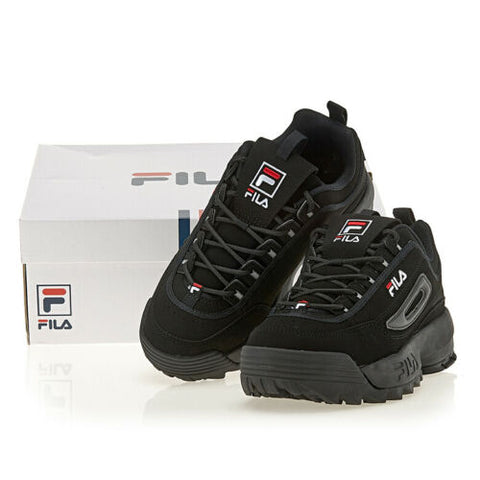 FILA Disruptor 2 Unisex Running Shoes Sports Athletic Sneakers Black FS1HTB1078X