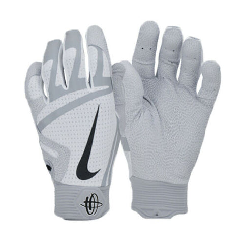 Nike Huarache PRO Baseball Batting Glove Gray/White GB0466-115
