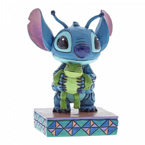 Disney Traditions Strange Life-Forms (Stitch with Frog Figurine) - The Celebrity Gift Company