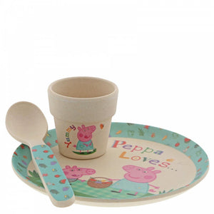 Peppa Pig Bamboo Egg Cup Dinner Set - The Celebrity Gift Company