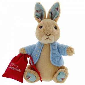 Peter Rabbit Christmas Small Soft Plush Toy - The Celebrity Gift Company