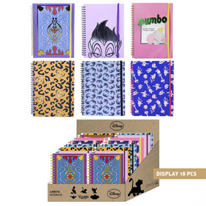 Disney A5 Spiral Bound Notebook - Choice of Characters - The Celebrity Gift Company
