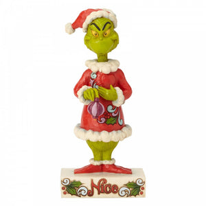 Jim Shore Grinch Figurine - Two-sided Naughty/Nice - The Celebrity Gift Company