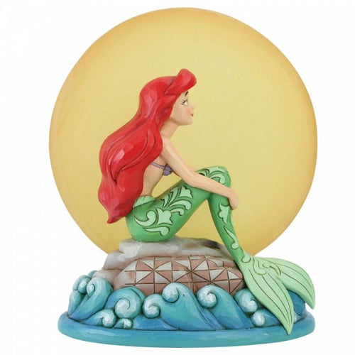 Mermaid by Moonlight (Ariel with Light up Moon Figurine) - The Celebrity Gift Company