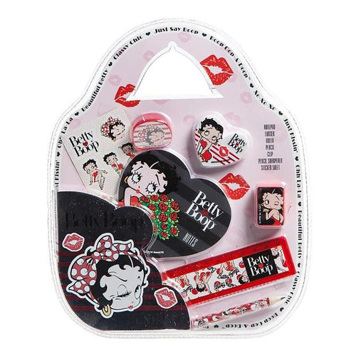 Betty Boop 7 Piece Stationery Set - The Celebrity Gift Company