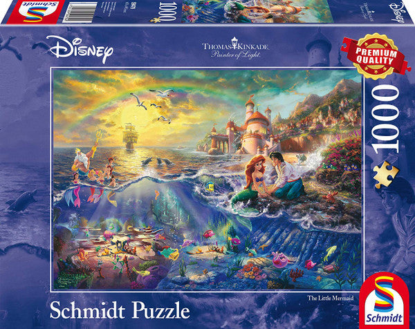 Thomas Kinkade Disney The Little Mermaid 1000 Piece Jigsaw Puzzle - The Celebrity Gift Company