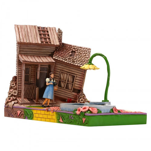 Jim Shore The Beautiful Land of OZ (Dorothy Stepping Kansas to Oz Figurine) - The Celebrity Gift Company