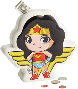 DC Super Friends Ceramic Moneybox - Wonder Woman - The Celebrity Gift Company