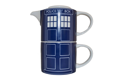 Doctor Who TARDIS Door Panel Tea for One - The Celebrity Gift Company