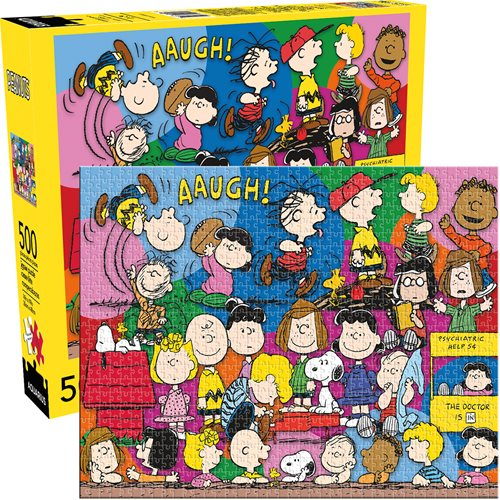 Peanuts Cast Snoopy 500-Piece Jigsaw Puzzle - The Celebrity Gift Company